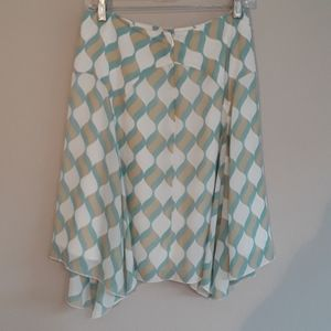 Anthropologie Girls From Savoy Silk Skirt Size 8
